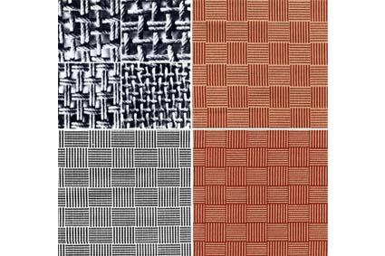 Lampas textile project